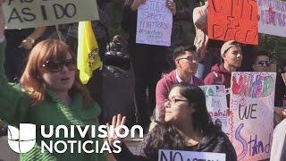 Estudiantes universitarios de Texas exigen que sus instituciones se conviertan en santuarios de inmi