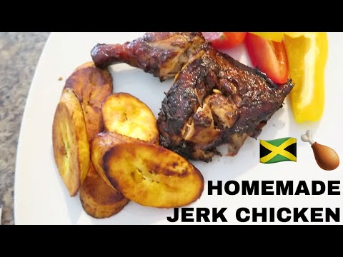 COOKING JAMAICAN JERK CHICKEN AT HOME WITH MY FATHER-IN-LAW | ROCHELLE'S HOME COOKING