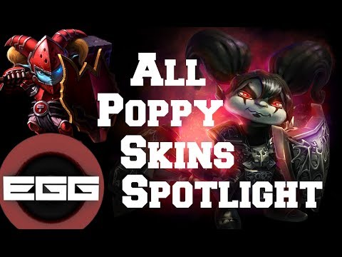 All Poppy Skins Spotlight - League of Legends Skin Review ...