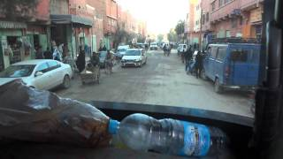 Fruit truck in Sahara Desert in Erfoud city Morocco - part 1