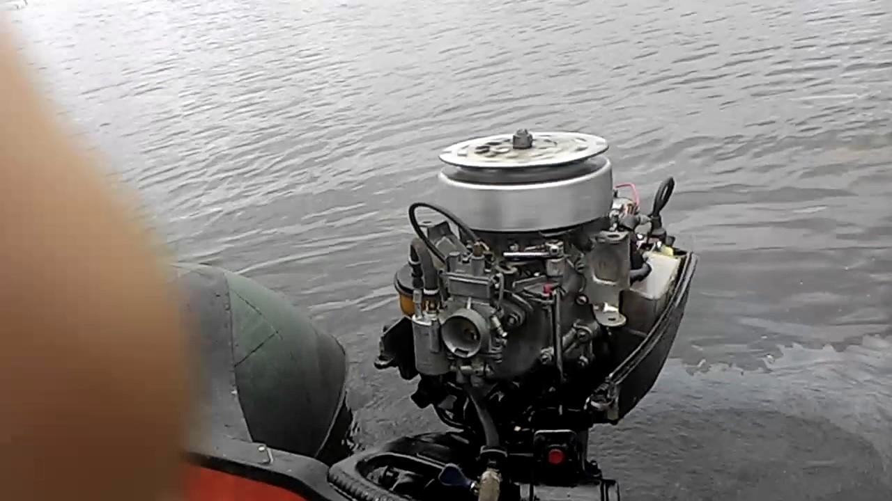 Лодочный мотор Ямаха 8 л.с. - эндуро - YouTube