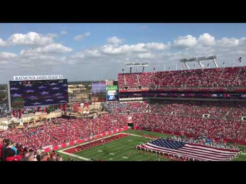 Buccaneers vs. Panthers - national anthem and flyover