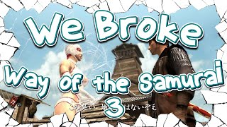 We Broke: Way of the Samurai 3
