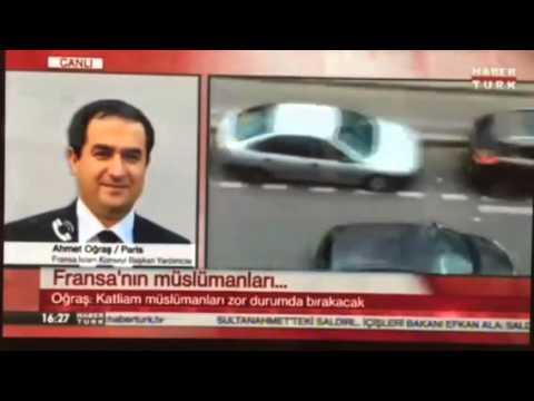Ahmet ogras charlie hebdo dergisi saldırısını Haber Turk Kanalina degerlendirdi
