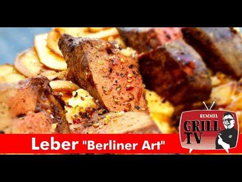 """Leber vom Grill """"Berliner Art"""" mit Selleriepüree und Apfel-"""