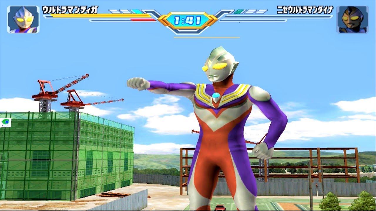 Sieu Nhan Game Play | Ultraman Tiga đánh bại tất cả các Ultraman bóng tối game ultraman Fe3