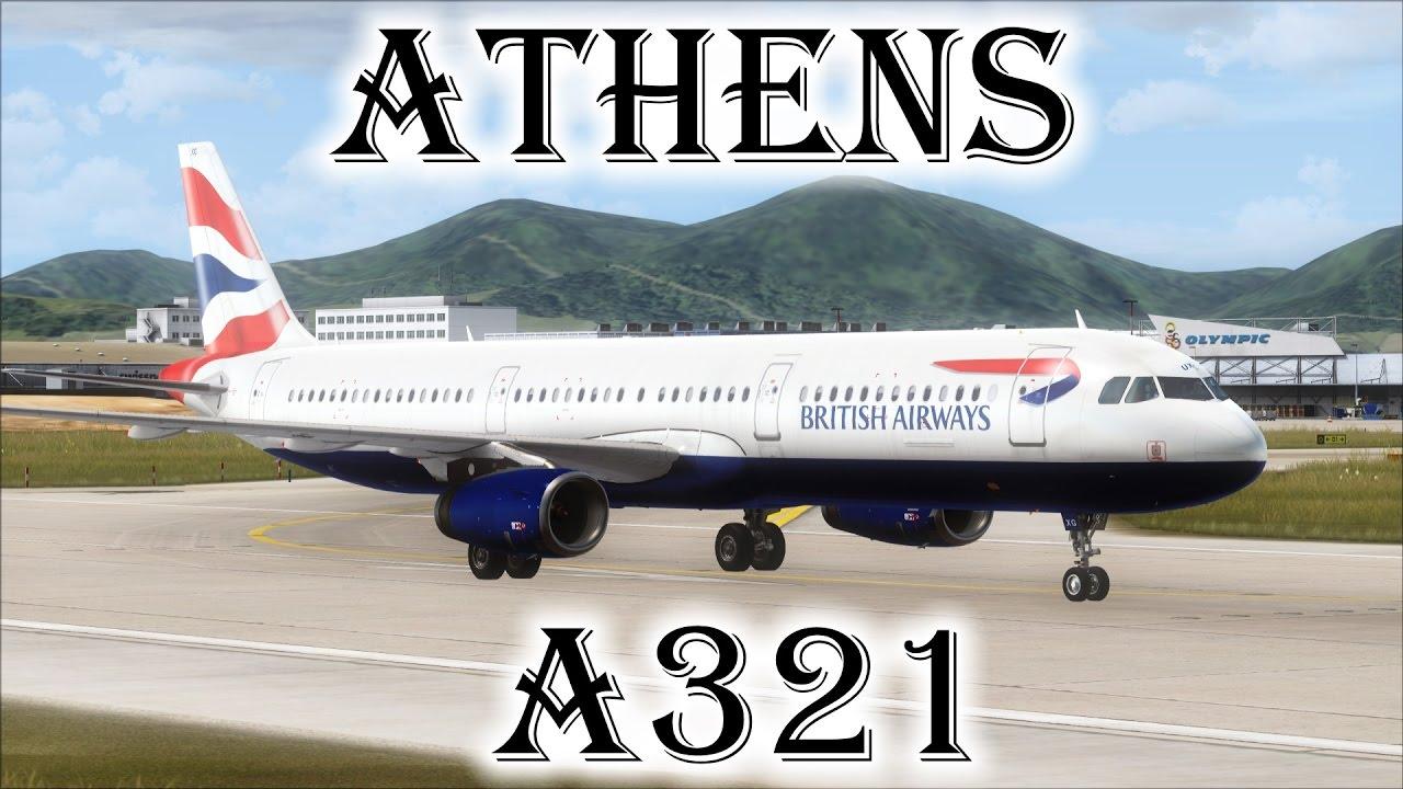 FSX | British Airways A321 Landing at Athens Int'l Airport (LGAV) (Multiple  Views)