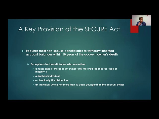 The SECURE Act & Estate Planning for Your Retirement Accounts
