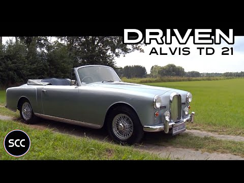 ALVIS TD21 Convertible 1961 - Full test drive in top gear - Engine sound | SCC TV