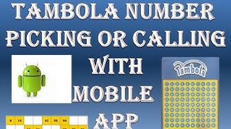 Tambola or housie number calling mobile application tutorial // how to call tambola Numbers