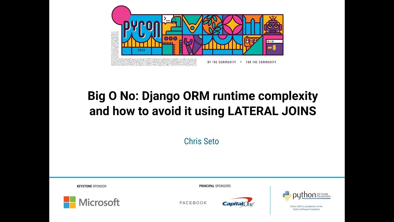 Image from Big O No: Django ORM runtime complexity and how to avoid it using LATERAL JOINS