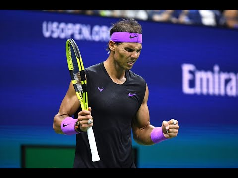Rafael Nadal Match Point and Celebration Winning the 2019 US Open Championship