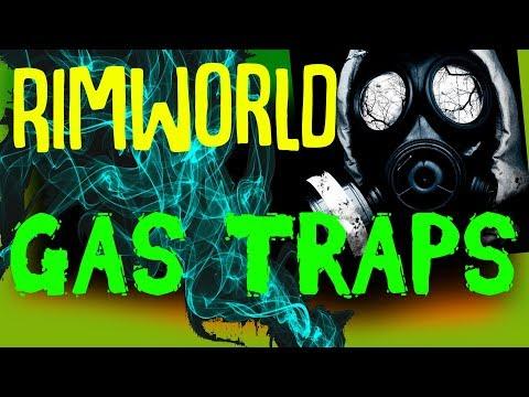 Gassing Raiders! Gas Traps! Rimworld Mod Showcase: Gas Traps