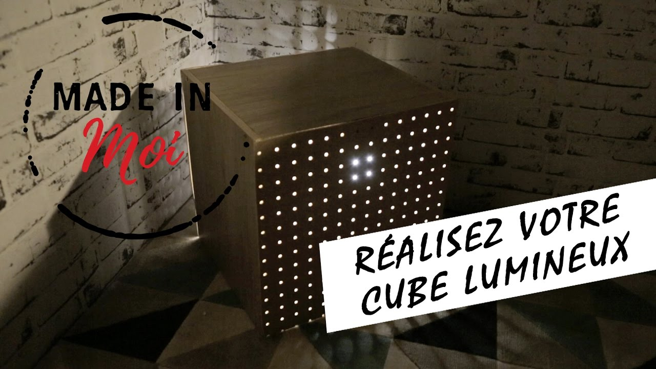 made in moi comment cr er un cube lumineux super canon youtube. Black Bedroom Furniture Sets. Home Design Ideas