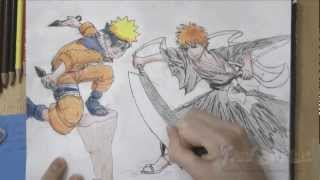 How to Draw Ichigo vs Naruto (Bleach/Naruto)(How to Draw Video Game Characters Ichigo and Naruto March 19th, 2012 Probably my best drawing involving anime characters yet! I am very happy with how ..., 2012-03-19T13:09:41.000Z)