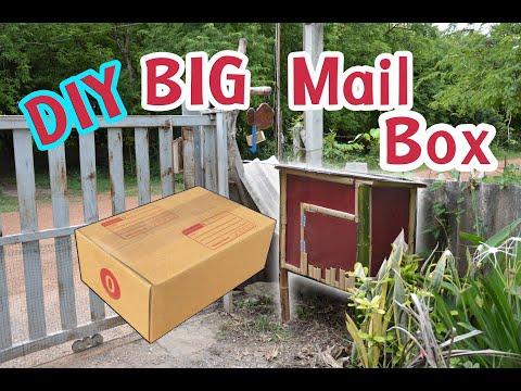 How To Make Big MailBox  DIY สร้างตู้รับพัสดุขนาดใหญ่