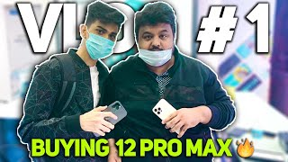 Buying 12 pro max 🔥and a day full of excitement  ft @8bit Goldy  and @8bit_rebel  | vlog1