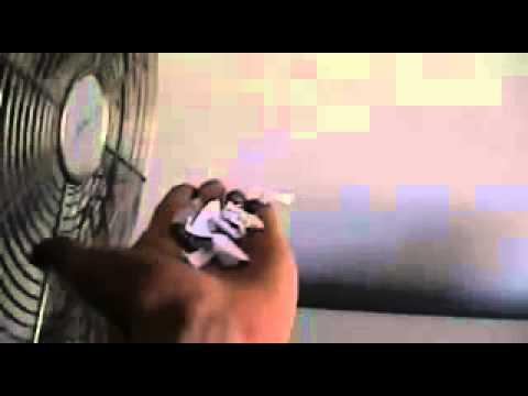 Fan Blows Paper in Slow Motion (600 fps)