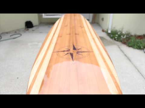 How to build a wood surfboard glassing and finishing