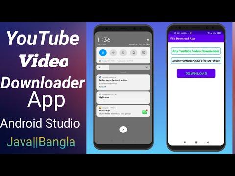 Youtube video Downloader App in Android studio  tutorial  2021