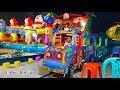 Naik Odong odong Kereta Api Anak & Bermain Mainan Anak Mancing Ikan di Mandi Bola Warna Warni