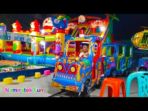 Ride Odong odong Big Train Toys & Play Fishing Fish Toys in Color Ball Pits Show Games