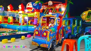 Download Video Naik Odong odong Kereta Api Anak & Bermain Mainan Anak Mancing Ikan di Mandi Bola Warna Warni MP3 3GP MP4