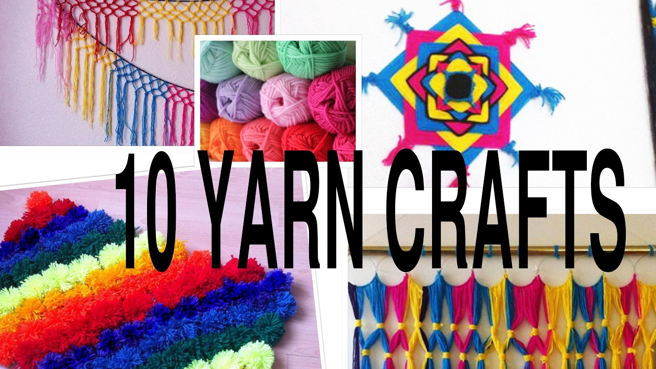 10 Awesome Yarn Crafts You Can Do Decorative Yarn Arts Diy Youtube