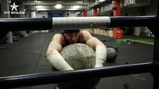 Виктор Блуд - Переброс Камня Атласа 160 кг