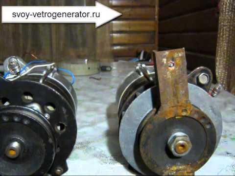 видео: Тестирование 3-е генератора для самодельного ветрогенератора.