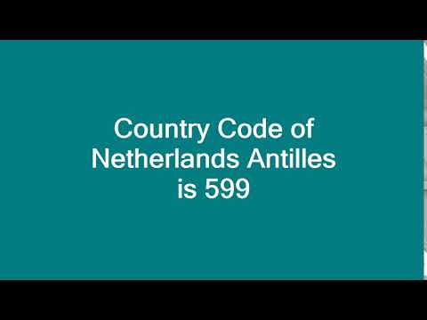 Country Code of Netherlands Antilles is 599