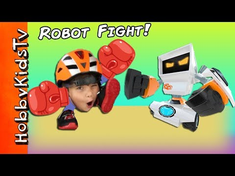 Big ROBOT FIGHTING Bots! RC Tournament Face Punching + Family Fun HobbyKidsTV