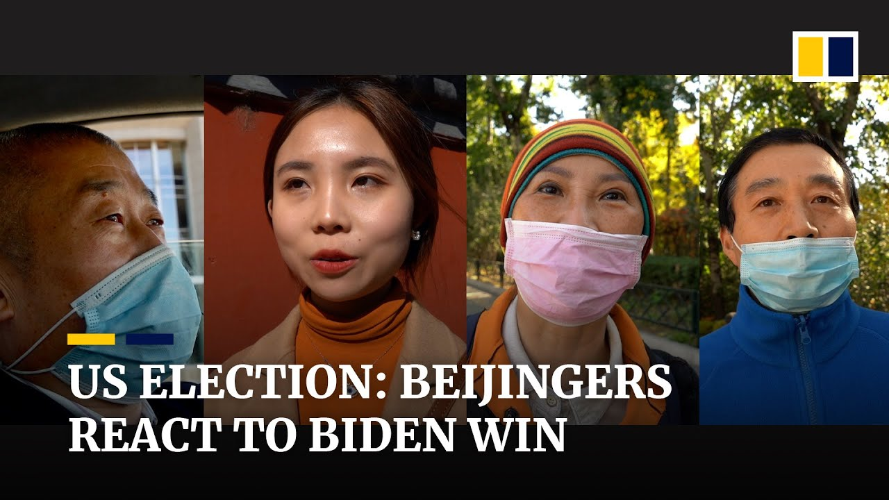 People on the streets of Beijing react to Biden's US presidential election victory over Trump