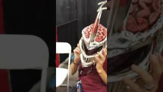 Robert Axelrod wears the Lord Zedd Helmet and does the voice
