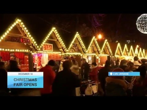 West Ukraine Christmas Fair Opens: Lviv residents and tourists visit Christmas market