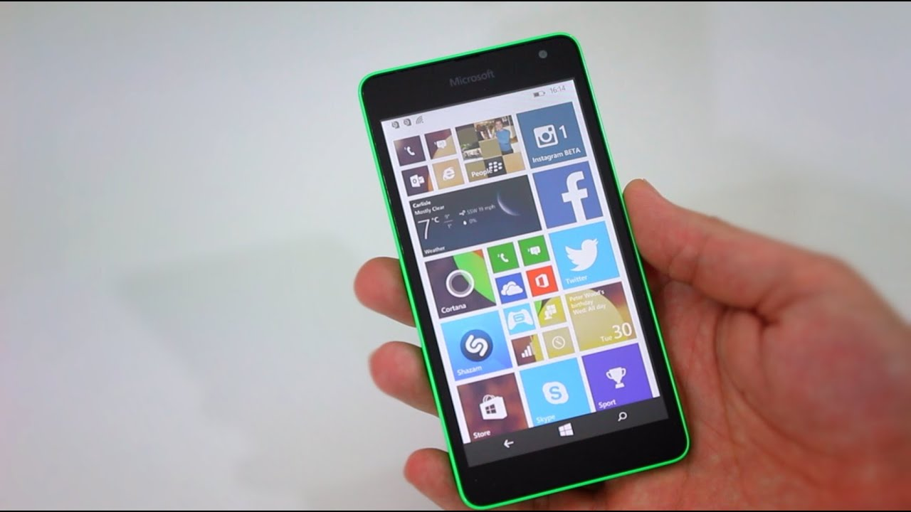 Nokia Lumia 535 Saturn: Microsoft Lumia 535 Review