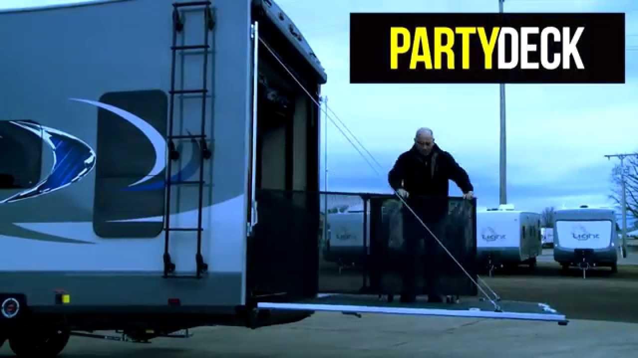 Toy Hauler Ramp Door Party Deck Youtube