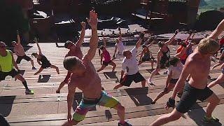 Новый тренд в США: фитнес на достопримечательностях (новости)