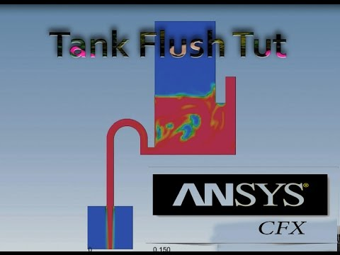 Water Flush Tank Simulation In Ansys CFX