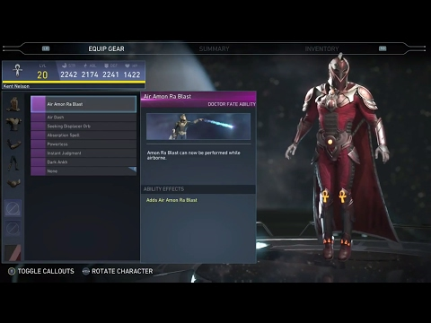 Injustice 2 - doctor Fate All Unlockable Abilities