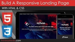 Responsive Landing Page Using HTML & CSS (A Little jQuery)