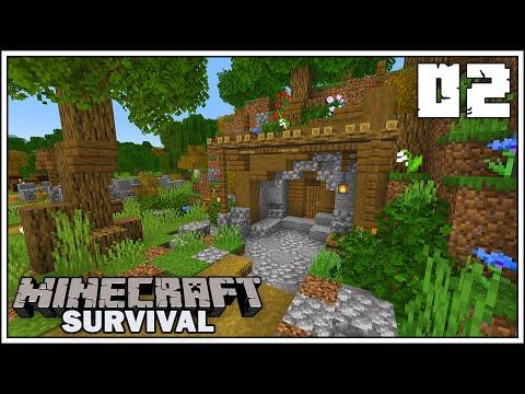 Let's Build A Mine Entrance ► Episode 2 ►  Minecraft 1.15 Survival Let's Play