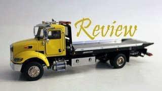 1/50 Twh Peterbilt 335 Pete With 5 Ton Roll Back Flatbed Review- Yellow