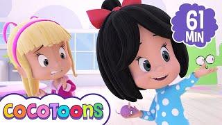 Debajo un botón y más canciones infantiles de Cleo y Cuquin | Cocotoons
