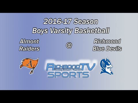 Richmond TV Sports: Boys Varsity Basketball - Almont Raiders vs. Richmond Blue Devils