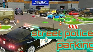 Street Police Car Parking 3D | Multi Level Car Games | City Car Police Andrid GamePlay, Balck Police