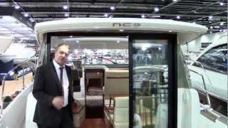 Jeanneau NC 9 Motor Boat at London Boat Show 2013 with Morgan Marine