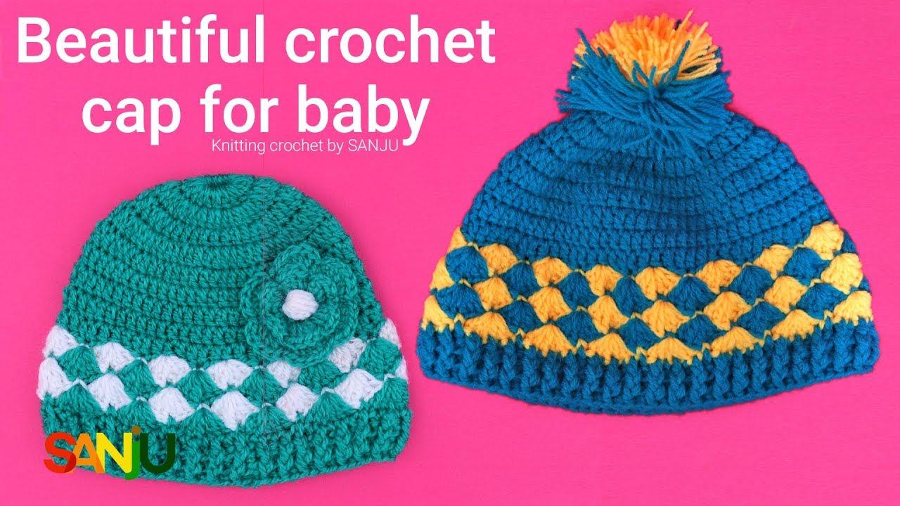 Beautiful Crochet cap for boys   girls  e4846347e