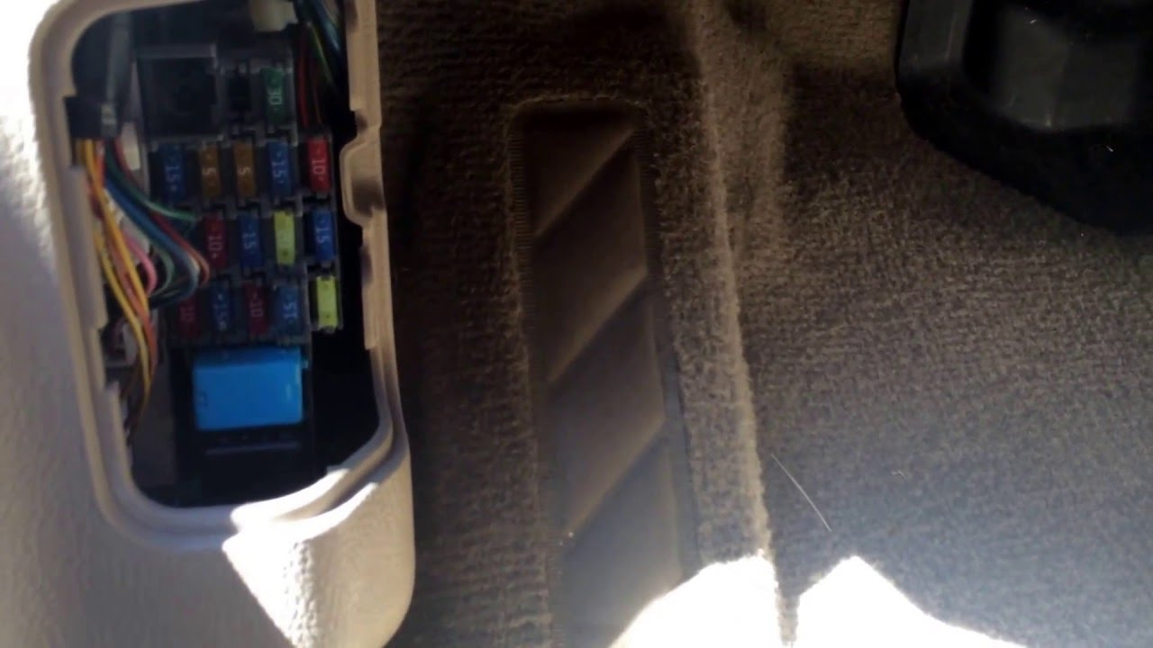 2006 Mazda 6 Fuse Box Location  YouTube