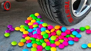 Crushing Crunchy & Soft Things by Car - EXPERIMENT: Bubble gum vs car